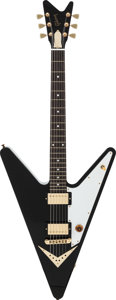 Musical Instruments:Electric Guitars, 2007 Gibson Reverse Flying V Black Solid Body Electric Guitar,Serial #032570689....