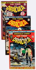 Bronze Age (1970-1979):Horror, Tomb of Dracula Group of 16 (Marvel, 1972-74) Condition: AverageVG+.... (Total: 16 Comic Books)