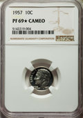 Proof Roosevelt Dimes, 1957 10C PR69 ★ Cameo NGC. NGC Census: (119/0 and 29/0*). PCGSPopulation: (11/0 and 29/0*). ...