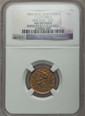 Civil War Tokens, 1864 Lincoln - O.K. Civil War Token, F-127/248 b, -- ImproperlyCleaned -- NGC Details. AU....