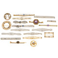 Estate Jewelry:Brooches - Pins, Diamond, Multi-Stone, Seed Pearl, Enamel, Gold Brooches. ...(Total: 19 Items)