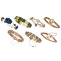 Estate Jewelry:Bracelets, Multi-Stone, Gold, Metal Bracelets . ... (Total: 7 Items)