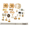 Estate Jewelry:Lots, Diamond, Multi-Stone, Yellow Metal Miscellaneous Jewelry Articles .... (Total: 22 Items)