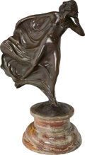 Fine Art - Sculpture, American, After Charles Sykes (British/American). Whisper. Bronze withbrown patina. 19 inches (48.3 cm) high on a 6-1/2 inches (1...
