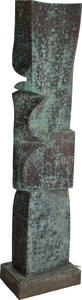 Fine Art - Sculpture, American:Contemporary (1950 to present), Melvin Albert Schuler (American, 1924-2012). Untitled, 1983.Copper on redwood. 74 inches high (188.0 cm) . Inscribed on...