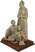 Fine Art - Sculpture, American, Shirley Thompson Smith (American, b. 1929). Three Sisters,1994. Bronze with gray patina. 33 inches (83.8 cm) high on a ...