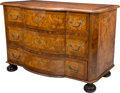 Furniture , A Régence-Style Burlwood and Fruitwood Marquetry Commode. 33 h x 49 w x 27 d inches (83.8 x 124.5 x 68.6 cm). ...