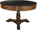 Furniture : English, An English Regency-Style Walnut Rent Table, 19th century with later elements. 28-3/8 inches high x 44 inches diameter (72.1 ...