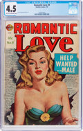 Golden Age (1938-1955):Romance, Romantic Love #9 (Avon, 1952) CGC VG+ 4.5 Light tan to off-whitepages....