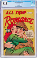Golden Age (1938-1955):Romance, All True Romance #2 (Comic Media, 1951) CGC FN- 5.5 Off-whitepages....