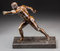 Other, A Patinated Bronze Figure of a Classical Athlete: Funeral Games for Patroclus. 18-3/4 h x 17-3/4 w x 13 d inches (47...