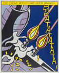 Fine Art - Work on Paper:Print, After Roy Lichtenstein. As I Opened Fire (triptych), 1964.Lithograph in colors. 25 x 20-3/4 inches (63.5 x 52.7 cm) (sh...(Total: 3 Items)