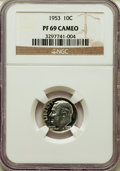 Proof Roosevelt Dimes, 1953 10C PR69 Cameo NGC....