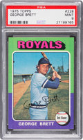 Baseball Cards:Singles (1970-Now), 1975 Topps George Brett #228 PSA Mint 9....
