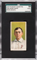 "Baseball Cards:Singles (Pre-1930), 1909-11 T206 Piedmont Sherry Magee ""Magie"" Error SGC 50 VG/EX 4 -The Most Famous Hobby Error! ..."