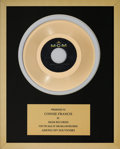 Music Memorabilia:Awards, A Connie Francis In-House 'MGM Records' Award for 'Among MySouvenirs.'...