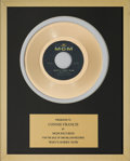 Music Memorabilia:Awards, A Connie Francis In-House 'MGM Records' Award for 'Who's Sorry Now.'...