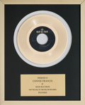 Music Memorabilia:Awards, A Connie Francis In-House 'MGM Records' Award for 'Frankie.'...