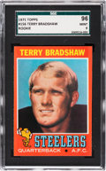 Football Cards:Singles (1970-Now), 1971 Topps Terry Bradshaw #156 SGC 96 Mint 9....