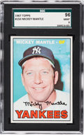 Baseball Cards:Singles (1960-1969), 1967 Topps Mickey Mantle #150 SGC 96 Mint 9 - Pop Three, NoneHigher....