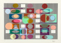 Yaacov Agam (Israeli, b. 1928) Untitled Screenprint in colors 8-5/8 x 12-1/2 inches (21.9 x 31.8