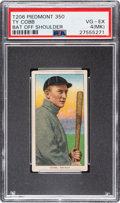 Baseball Cards:Singles (Pre-1930), 1909-11 T206 Piedmont 350 Ty Cobb (Bat Off Shoulder) PSA VG-EX 4 (MK). ...