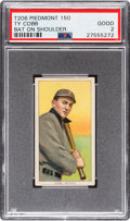Baseball Cards:Singles (Pre-1930), 1909-11 T206 Piedmont Ty Cobb (Bat On Shoulder) PSA Good 2....