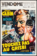 "Movie Posters:Foreign, Grisbi (Century Films, 1954). Belgian (14"" X 21.5""). Foreign.. ..."