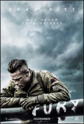"Movie Posters:War, Fury (Sony, 2014). One Sheet (27"" X 40""). DS Advance. War.. ..."