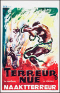 "Movie Posters:Documentary, Naked Terror (CED Films, 1961). Belgian (14"" X 21.5""). Documentary.. ..."
