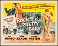"Movie Posters:Rock and Roll, Rock, Pretty Baby (Universal International, 1957). Half Sheet (22""X 28"") Style B. Rock and Roll.. ..."