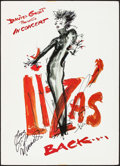 """Movie Posters:Musical, Liza Minnelli: Liza's Back (J Records, 2002). Autographed Concert Window Card (16.5"""" X 23.25""""). Musical.. ..."""
