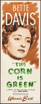 "The Corn Is Green (Warner Brothers, 1945). Insert (14"" X 36""). Drama"