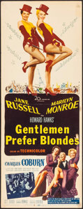 "Movie Posters:Musical, Gentlemen Prefer Blondes (20th Century Fox, 1953). Insert (14"" X 36""). Musical.. ..."