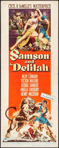 "Movie Posters:Adventure, Samson and Delilah (Paramount, 1949). Insert (14"" X 36"").Adventure.. ..."