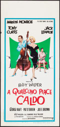 """Movie Posters:Comedy, Some Like It Hot (United Artists, R-1970s). Italian Locandina (13""""X 27""""). Comedy.. ..."""