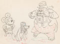 Animation Art:Production Drawing, Society Dog Show Mickey Mouse and Pluto Animation Drawing(Walt Disney, 1939).. ...