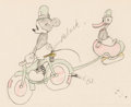 Animation Art:Production Drawing, The Dognapper Mickey Mouse and Donald Duck Color Model Drawing (Walt Disney, 1934)....