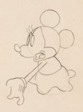 Animation Art:Production Drawing, Puppy Love Minnie Mouse Animation Drawing (Walt Disney,1933). ...