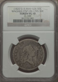 Counterstamps, 1795 50C 2 Leaves -- WAGNER Counterstamp -- VG10 NGC. O-109, R.4. Brunk W-67, Rulau Mav-52K, R.8 with the counterstamp. The...
