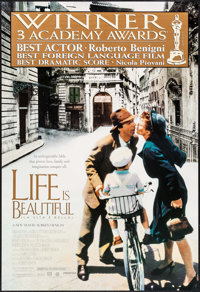 """Life is Beautiful (Miramax, 1997). Identical One Sheets (25) (27"""" X 40""""). SS Academy Awards Style. Foreign..."""