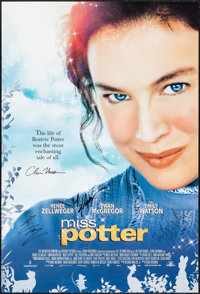 """Miss Potter & Other Lot (MGM, 2006). Autographed One Sheets (2) (27"""" X 40"""") SS. Drama. ... (Total: 2 Items..."""