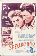 """Movie Posters:Hitchcock, Spellbound (Selznick, R-1956). One Sheet (27"""" X 41""""). Hitchcock.. ..."""