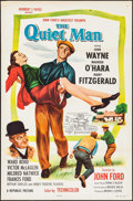 "Movie Posters:Drama, The Quiet Man (Republic, R-1957). One Sheet (27"" X 41""). Drama....."