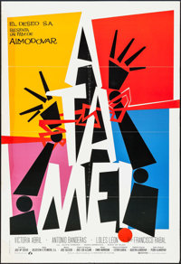 "Tie Me Up! Tie Me Down! (Laurenfilm, 1989). Spanish One Sheet (27"" X 39.5"") and One Sheet (27"" X 40""..."