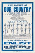 """Movie Posters:War, Father of Our Country (Ryan & Hart Co., 1917). Poster (28"""" X42.75""""). War.. ..."""