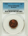 Proof Lincoln Cents, 1936 1C Type Two--Brilliant Finish PR66 Red and Brown PCGS....