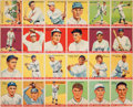 Baseball Cards:Sets, 1934 World Wide Gum Baseball Uncut Panel With Twenty-Four Cards....