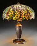 Art Glass:Other , A Handel Leaded Glass Lamp, circa 1920. Marks to shade:HANDEL. 23-1/8 inches high x 19 inches diameter (58.7 x 48.3cm)... (Total: 2 Items)