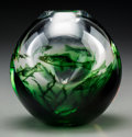 Art Glass:Other , An Orrefors Graal Glass Aquarium Vase by Edvard Hald,Orrefors, Sweden, circa 1973. Marks: ORREFORS, Graal, Nr...
